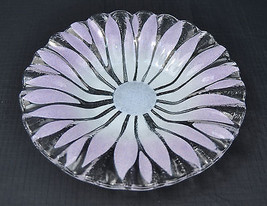 Art Glass Flower Signed Syd Rossled Tray Dish - $59.40