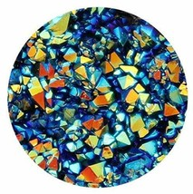 Silver Blue Gold Crystal Cluster Resin 18mm Snap Button Charm for Ginger... - $6.88