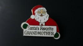 Vintage Santas Favorite Grandmother Enamel Brooch 3.2cm - $29.69