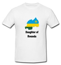 Daughter of Rwanda Rwandan Map Flag Country T-shirt New White S M L XL - $20.00