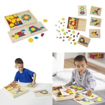 Melissa & Doug Pattern Blocks and Boards - Classic Toy With 120 Solid Wood...  - $29.82
