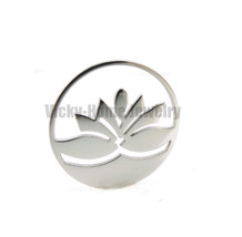New Arrivals Silver Lotus DIY Diffuser Locket Plate(20-30mm) Essential O... - $13.12