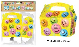 30 Smile Face Birthday Party Boxes - Sweet Mini Treat  Food Loot ,Prize ... - £6.62 GBP