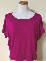 NWT Andrea Jovine Mulberry Lane Knit Top Short Cuffed Sleeve Tee T-Shirt M - $14.99