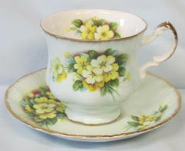 Paragon Teal with Yellow Flowers Cup and Saucer set - $29.59