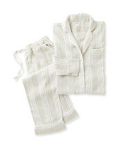 NWT $148 Serena & Lily Porto Linen Pajamas - S - pants shirt - tan flax ... - $82.24