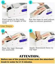 Water Activated Tape Dispenser- Elepa Manual Kraft Tape Dispenser,3.5-Inch Wide, image 6