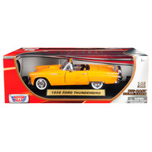 1956 Ford Thunderbird Convertible Orange 1/18 Diecast Model Car by Motor... - $52.07