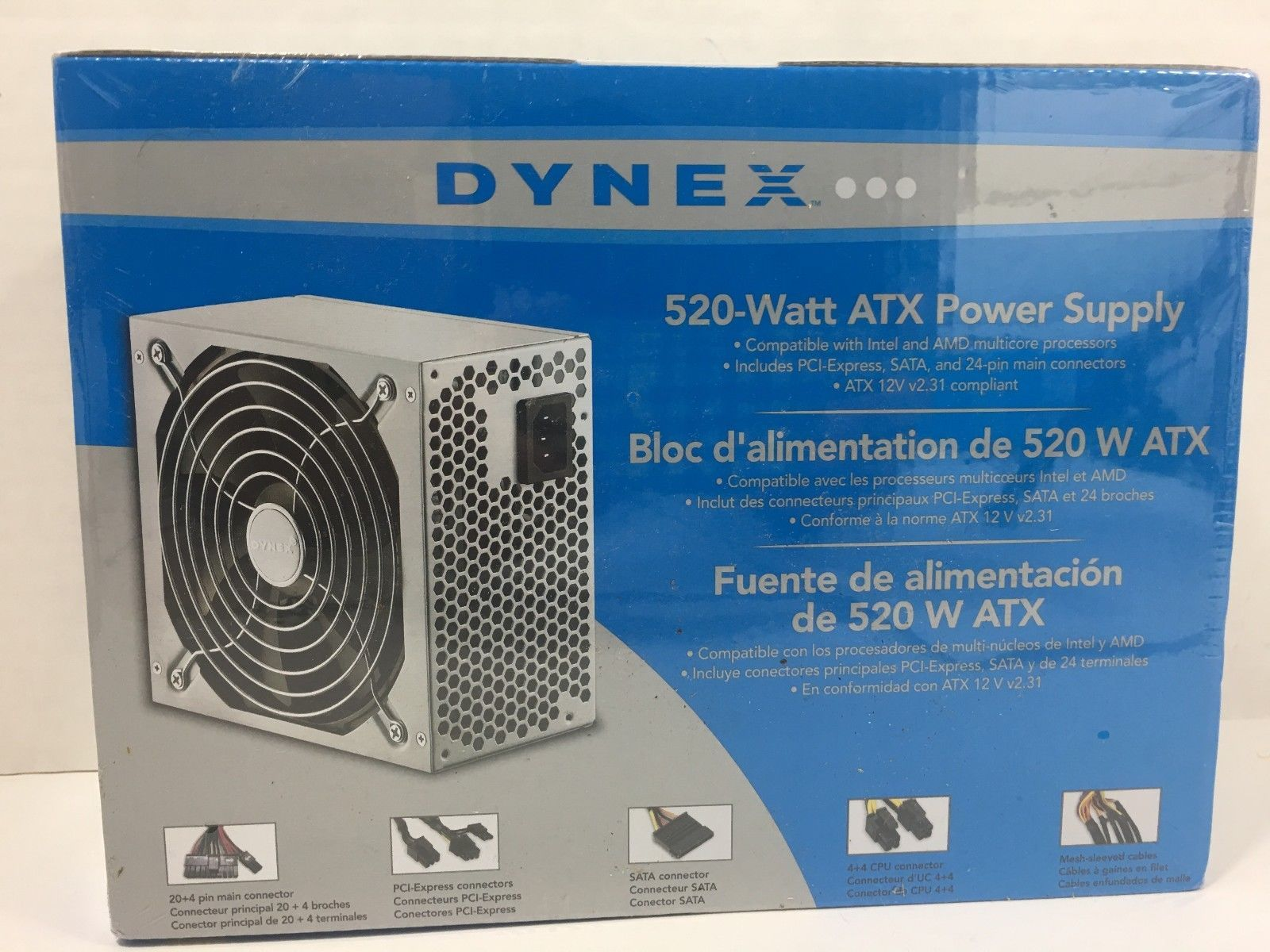 Dynex 520 Watt Atx Power Supply