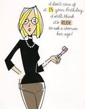 Funny Carlton Dr Jill Rude Ask Age Blue Cat Sex Glitter Birthday Greetin... - $9.99