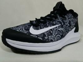 Nike Court Air Zoom Zero HC Tennis Shoes Size 9.5 Women's Black White AA8022-002 - $89.09