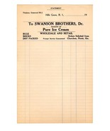 Ice Cream Advertising Swanson Brothers Makers of Pure Ice Cream Hills Gr... - $14.99