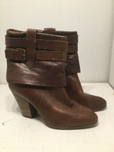Nine West Vintage America Howlin Bohemian Brown Leather Boots, US Size 10 1/2M - $37.16