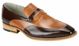 Two Tone Black Tan Vintage Fashion Genuine Leather Party Wear Moccasins Shoes - $139.99+