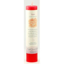 Love Reiki Charged Pillar Candle - $15.00