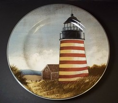"By the Sea Lighthouse salad plate David Carter Brown Oneida 8.25"" #2 - $8.75"