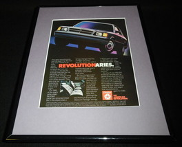 1984 Dodge Aries LE Framed 11x14 ORIGINAL Vintage Advertisement - $32.36