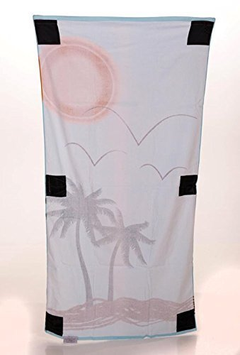 Sand Secured Outdoor Towel Set: One1 Starfish Design & One1 Palm Tree Design, 2  image 4
