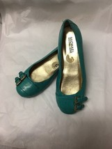 Michael Kors women's turquoise leather flat rubber bottom 6 - $15.98