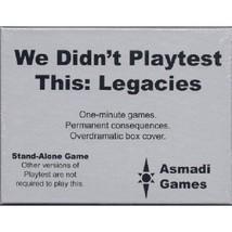 We Didnt Playtest This Legacies Card Game Fast Paced Multiplayer Asmadi ... - $14.99