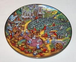Bill Bell Convent Nun Cats Plate A Purrfect Harvest Franklin Mint Vineyard  - $14.80