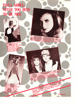 Paula Abdul teen magazine pinup clipping never to busy to be nice
