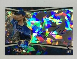 Limited To Pieces Darvish Direct Write Rookie Sign 2012 Bowman Platinum Rc - $758.71