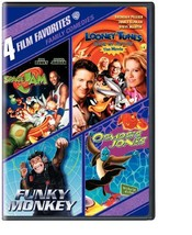 4 Film Favorites: Family Comedies Funky Monkey, Looney Tunes Back In Act... - $15.25