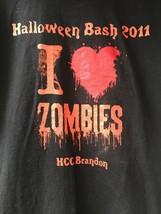 HCC Brandon FL Halloween Bash 2011 T Shirt Men's M Zombies Community College Blk - $18.60