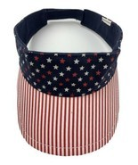 Stars and Strips Red White & Blue Adjustable Adult Visor Cap Hat - $10.29