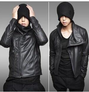 Han edition leather jacket male leather men's locomotive slim men's suit