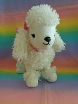 2015 Gymboree Faux Fur Poodle Puppy Dog Plush Purse White w/ Pink Handles & Bows - $19.78