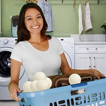 6 XL Wool Dryer Balls Natural Fabric Softener Organic Baby Laundry Alerg... - $12.92
