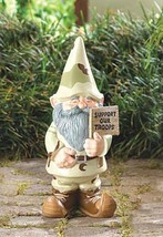 SUPPORT OUR TROOPS GNOME Patriotic Indoor Outdoor Statue - $19.85
