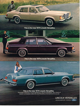 Vintage 1979 Magazine Ad Lincoln Versailles Your Choice Of Custom Roof Designs - $5.93
