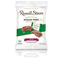 Russell Stover Sugar-Free Toffee Squares, 3 Ounce Peg Bag Pack of 12 - $39.71