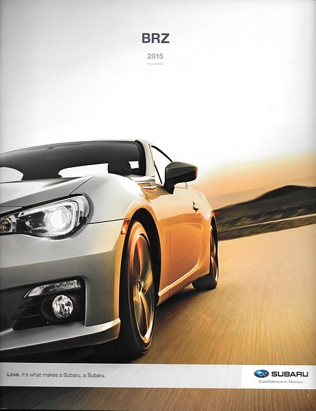 Primary image for 2015 Subaru BRZ sales brochure catalog 2nd Edition US 15 GT 86