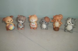 AVON 1992 Best Buddies Figurines Lot of 6 Dogs Cats Squirrel - $9.49