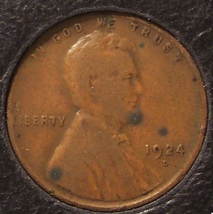 1924-D Lincoln Wheat Back Penny VG #0090 - $34.99