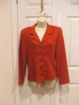 new in pkg frederick's of hollywood RUST BLAZER  jacket made in USA SIZE 9/10 - $21.77