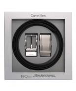 Calvin Klein CK Men's Reversible Leather Buckle Belt 3 Piece Gift Box Se... - $39.59