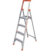 6 ft. 4 Step Stool Folding Utility Ladder 300 lb. Capacity Lightweight A... - $147.81
