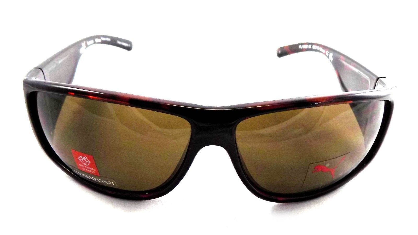 Puma Terminal PU15082 BR Sport Wraparound Sunglasses 66x13x120 Brown / Brown