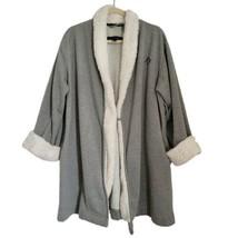 Tommy Hilfiger Gray Robe L/XL Fleece Lined Pockets Long Sleeve - $29.98