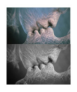 Creative Black White Love Kiss Abstract Art on Canvas Painting Wall Art ... - $6.99