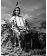 Chief Red Cloud SFOL Vintage 11X14 BW Native American Memorabilia Photo - $12.95