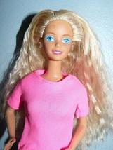 Mattel 1980s Twist 'N Turn Blond Barbie Doll in pink shirt floralpants ... - $9.41