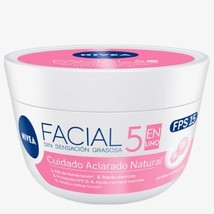 nivea crema facial ACLARADORA natural Brightening FPS 15 400g - $21.95