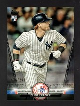 2016 TOPPS SALUTE BLACK S8 CLINT FRAZIER RC 136/299 YANKEES - $2.99