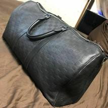 Auth Louis Vuitton Boston bag Keepall 45 Damier Infini onyx black men's ... - $1,432.87